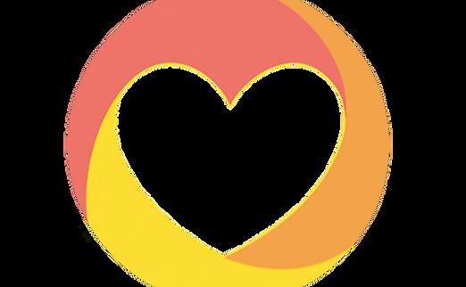 WithPurpose Heart Sticker with no border