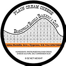 Plain Cream Cheese in an 8 oz Tub