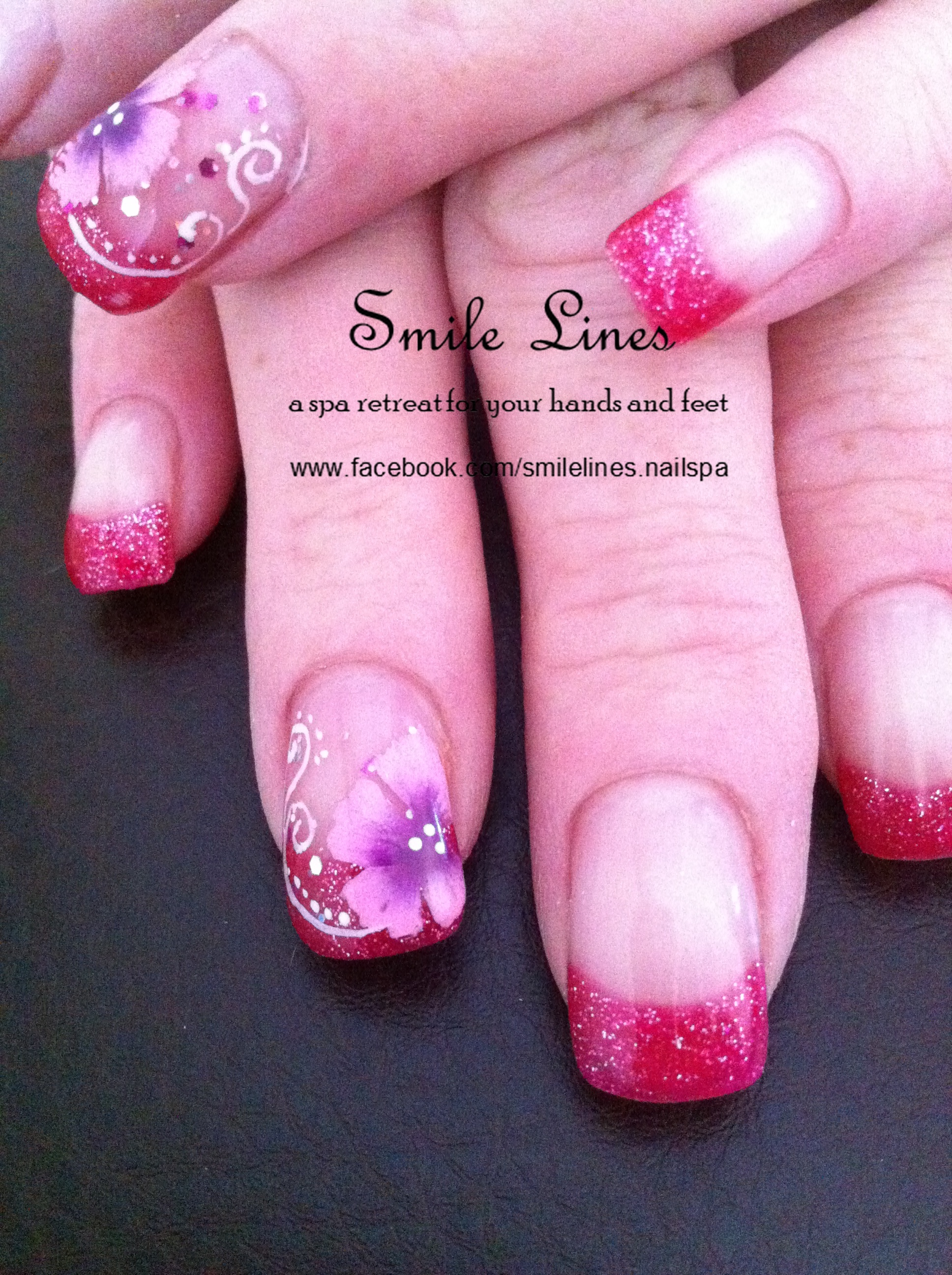 Pink Glitter Floral French.JPG