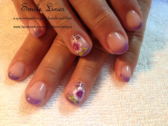 purple flower with butterfly.JPG