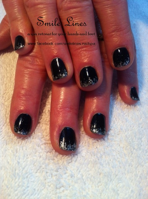 Midnight blue with silver cascade french.JPG
