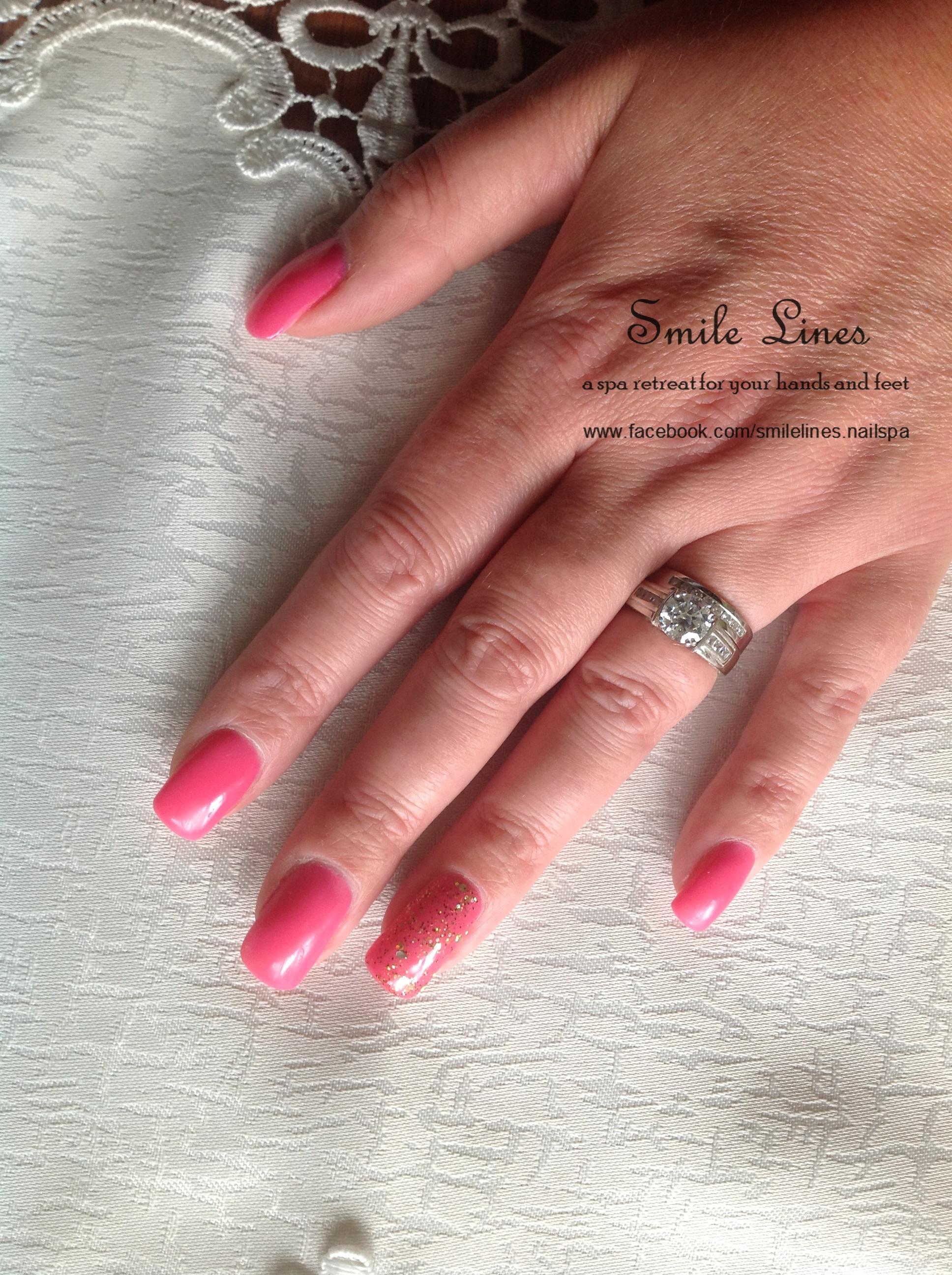 Pink Gel with Gold sparkle gel.JPG