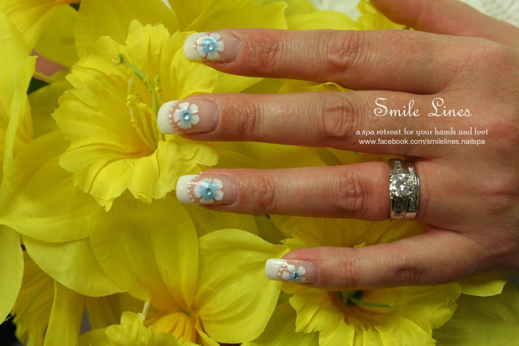 My wedding nails - daffodil.jpg