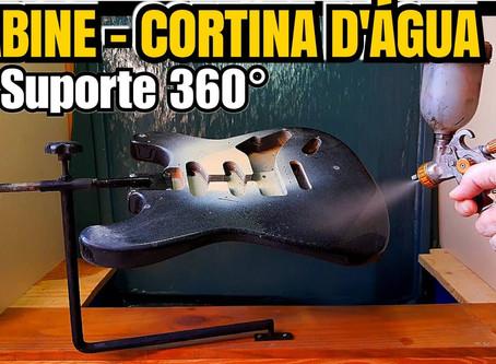 Cabine de pintura com cortina d'água na versão mais prática e acessível que você verá! Sergio Grassi