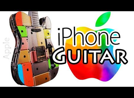 Luthier russo faz guitarra com 107 iPhones!