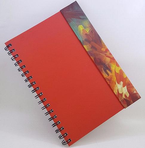 Caderno Capa Dura Articulada - Estampa Abstrata Colorida