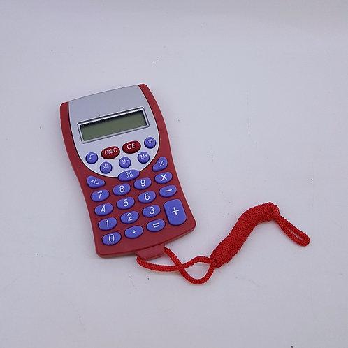Calculadora Vermelha com Cordão Vermelho