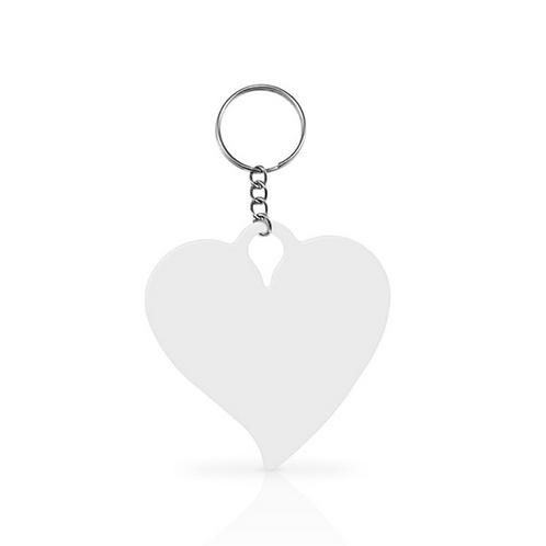 Chaveiro Metal Coração - Sublimação