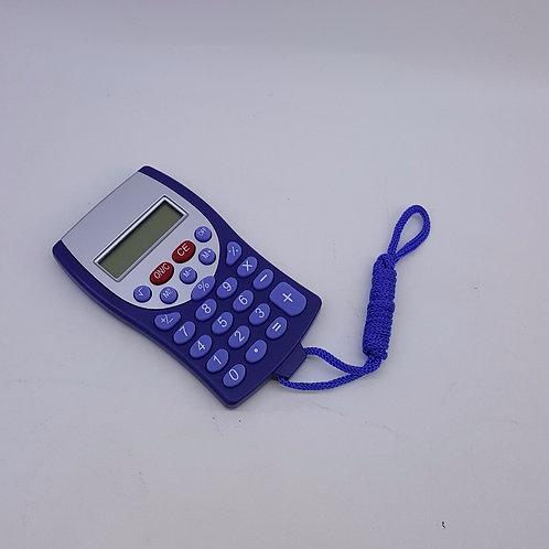 Calculadora Azul com Cordão Azul