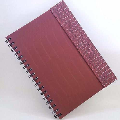 Caderno Capa Dura Articulada - Estampa de Jacaré