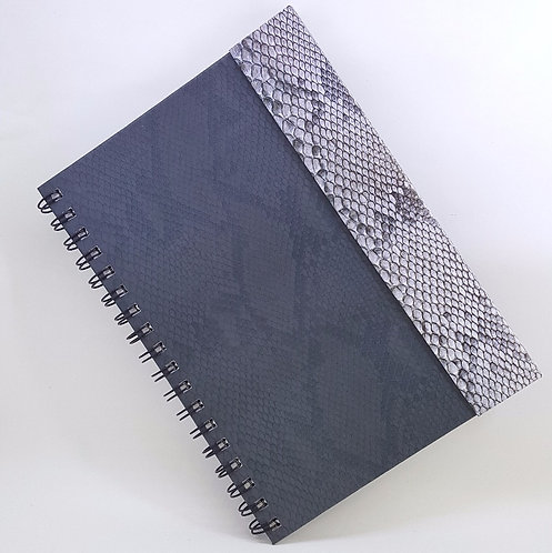 Caderno Capa Dura Articulada - Estampa de Cobra