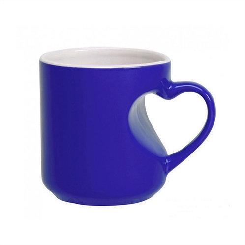 Caneca Mágica Azul de Coração - Sublimação