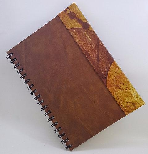 Caderno Capa Dura Articulada - Estampa Relógio Antigo
