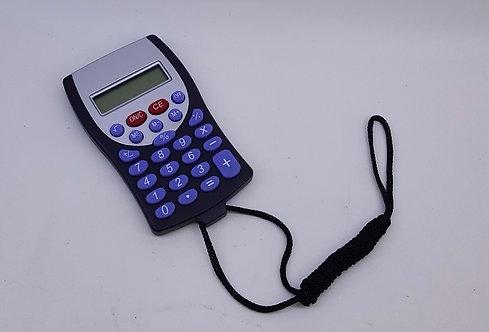 Calculadora Azul com Cordão Preto