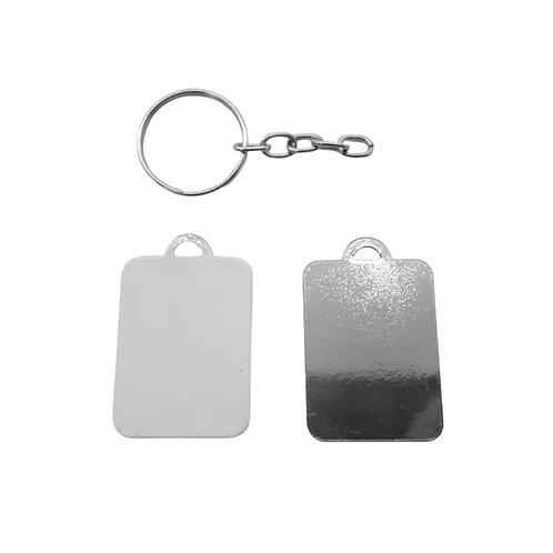 Chaveiro Metal Retangular - Sublimação
