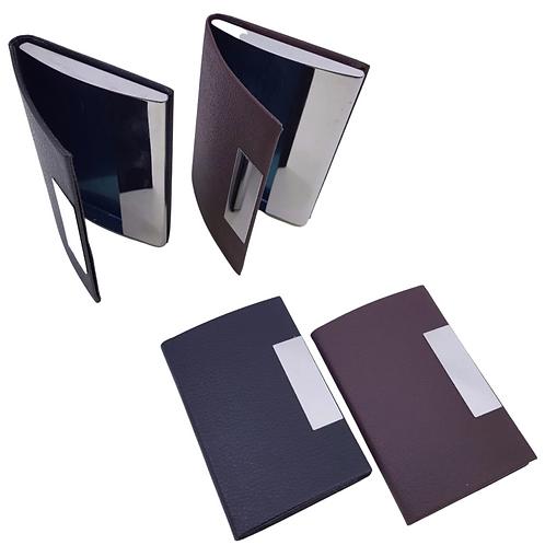 Porta Cartão em Courino e Metal - Ref. NM127