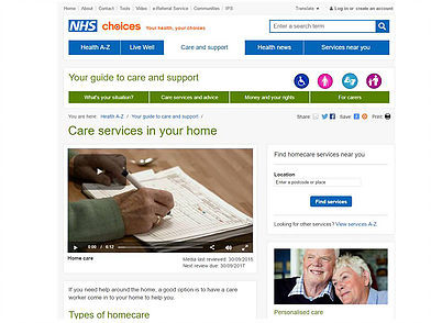 What's important when selecting care at home?