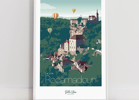 """Affiche Belle Lotoise Rocamadour """"La cité"""""""