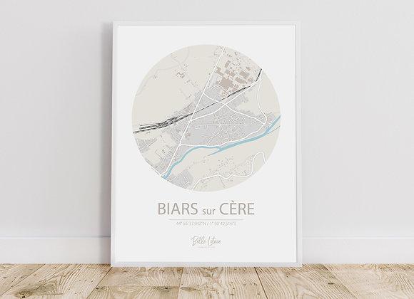 Map Biars sur Cère