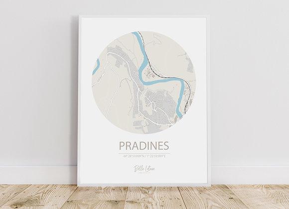 Map Pradines
