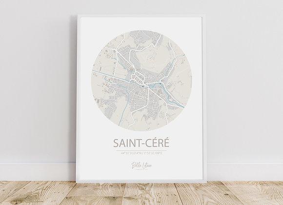 Map Saint-Céré