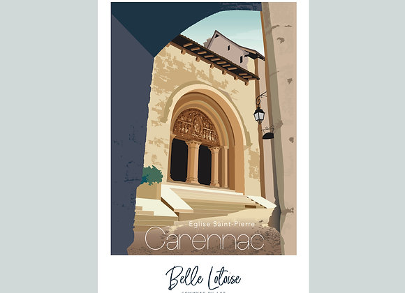 "Carte postale Belle Lotoise Carennac ""Eglise Saint Pierre"""