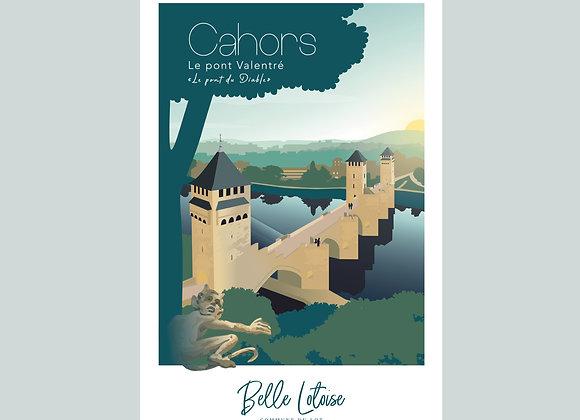 """Carte postale Belle Lotoise Cahors """"Le pont Valentré"""""""