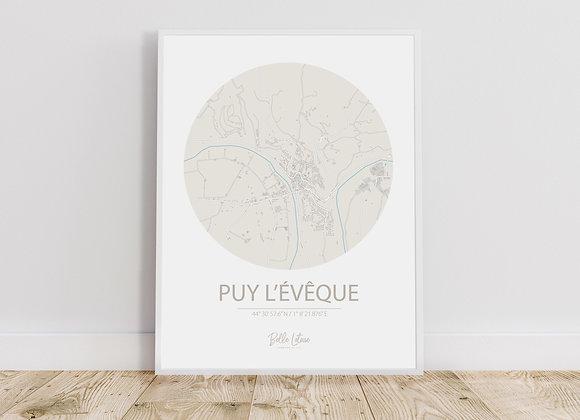 Map Puy l'Evêque