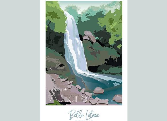 """Carte postale Belle Lotoise Autoire """"La cascade"""""""