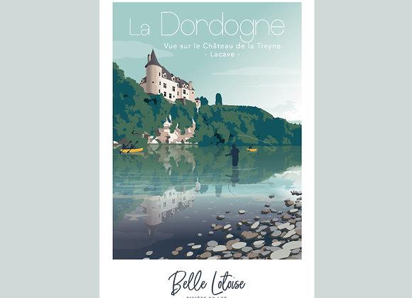 "Carte postale Belle Lotoise ""La Dordogne"""