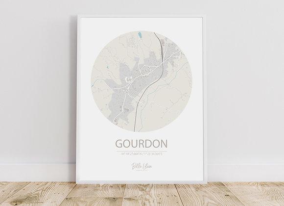 Map Gourdon