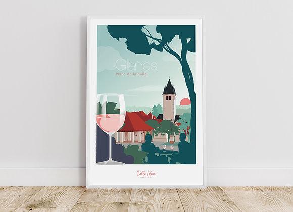 """Affiche Belle Lotoise Glanes """"Place de la halle"""""""