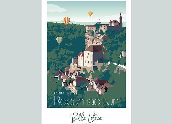 """Carte postale Belle Lotoise Rocamadour """"La cité"""""""