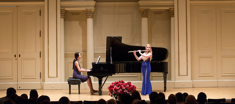 Abigail Graham plays flute at Carnegie Hall