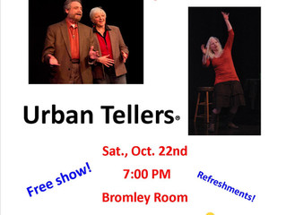 Urban Tellers with Portland Story Theater, Sat., Oct. 22nd - 7 PM
