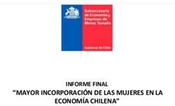 Mayor incorporación de las mujeres en la economía chilena