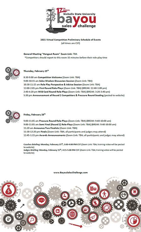 2021_Bayou Sales Challenge_Schedule of E