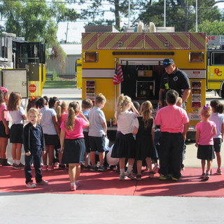 We love telling the local children what firefighting is all about!