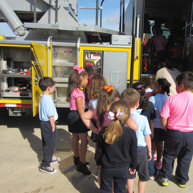 kids always love climbing in the fire trucks!