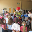 SMokey comes to visit the children!