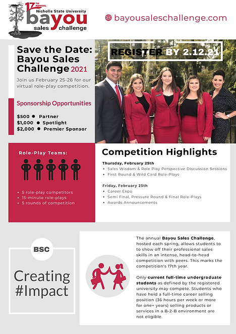 Bayou Sales Challenge_Save the Date_Sponsors