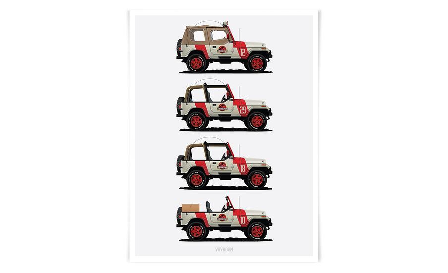 Jurassic Park Staff Jeeps