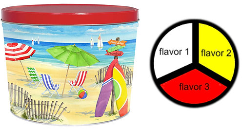 Beach - 2 gallons, 3  flavors