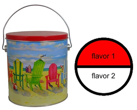 Beach tin - 1 'gallon plus,' 2 flavors