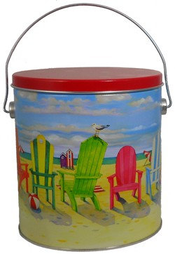 Beach tin - 1 'gallon plus', 1 flavor
