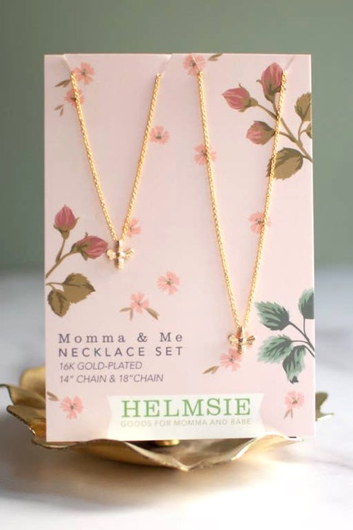 Momma & Me Necklace Set - bees