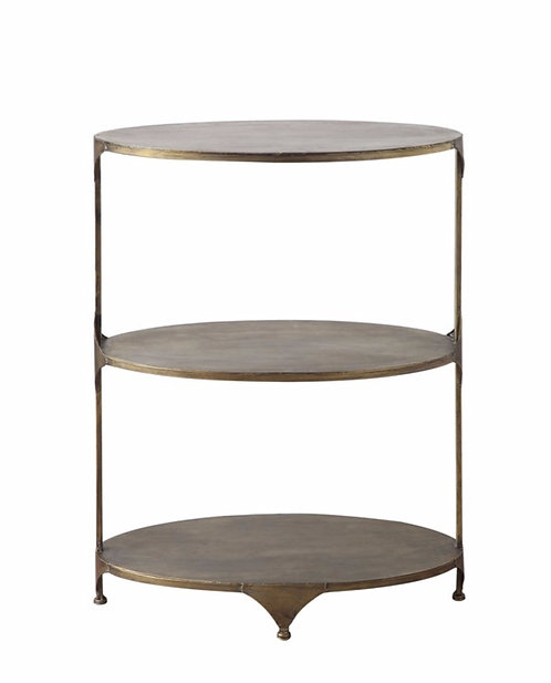 Oval 3 Tier Shelf Table