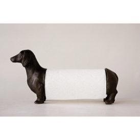 Bronze Wiener Dog Paper Towel Holder