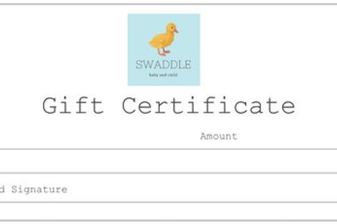 Swaddle Gift Certificate
