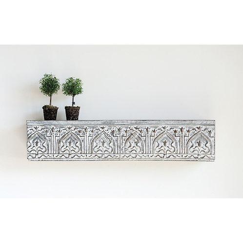 Embossed Zinc Wall Shelf